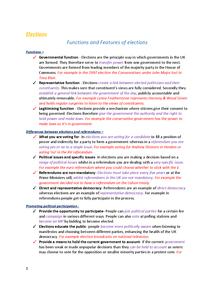 Preview of Edexcel Politics Unit 1 and Unit 2 complete notes
