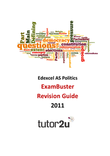 Preview of Edexcel AS Politics Unit 1 + 2 Exambuster - Amazingly Helpful + Detailed