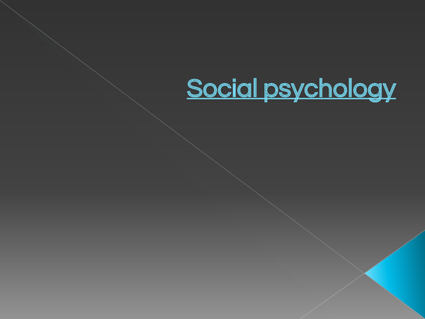 Preview of Edexcel Social psychology