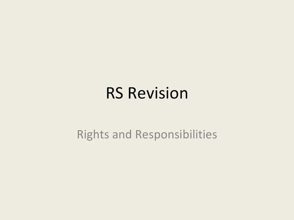 Preview of (Edexcel Topic 1) Rights and Responsibilities
