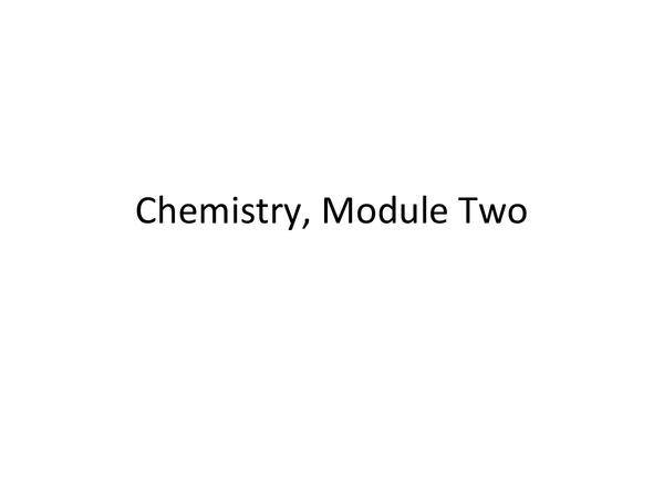 Preview of AS Chemistry Unit 2 Summary