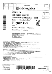Preview of edexcel unit 3 modular 6th june 2011 anwsers
