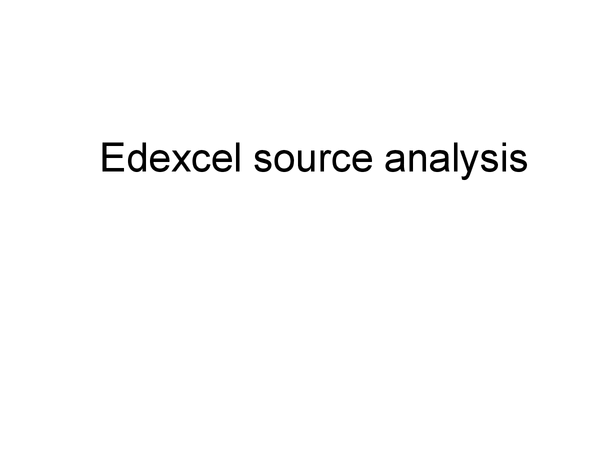 Preview of Edexel source analysis