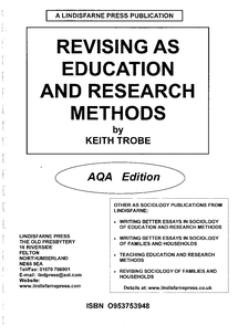 Preview of Education  and research methods revision (full pack)