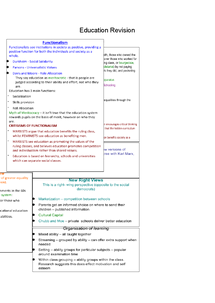 Preview of Education Revision Summary