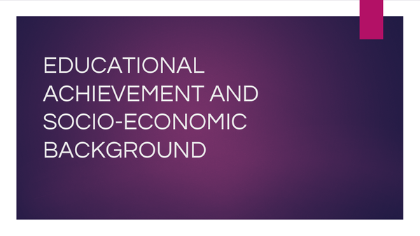 Preview of Educational achievement and attainment