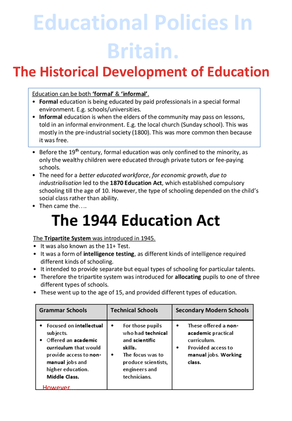 1988 education reform act essay The legal requirements regarding re and school worship can be found in the education reform act 1988 (sections 6-13) they are reaffirmed in the education act 1996.