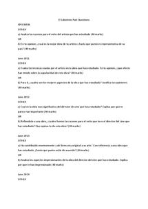 Preview of El Laberinto del Fauno ALL PAST QUESTIONS