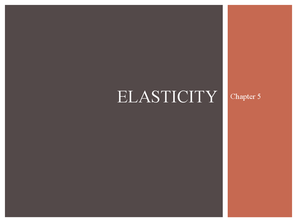 Preview of Elasticity