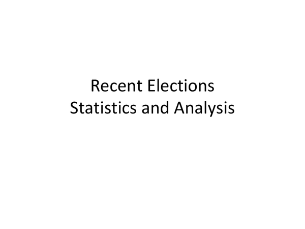 Preview of Election statistics and analysis (2010 UK and 2012 US)