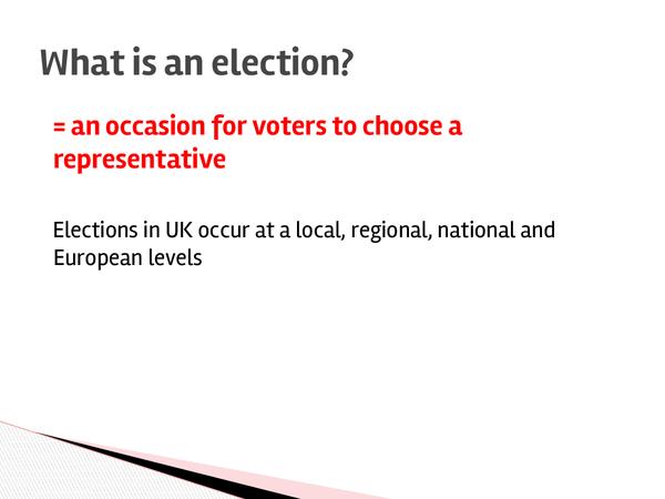 Preview of Elections - Unit 1 - Politics - Edexcel
