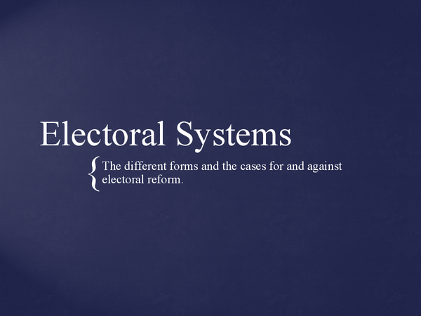 Preview of Electoral Systems