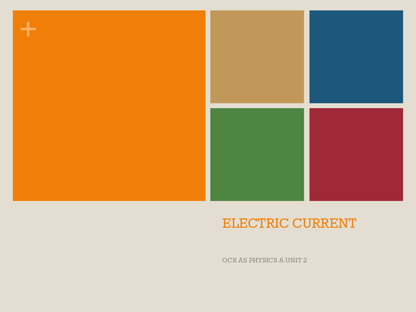 Preview of Electric Current