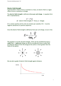 Preview of Electric Field Strength