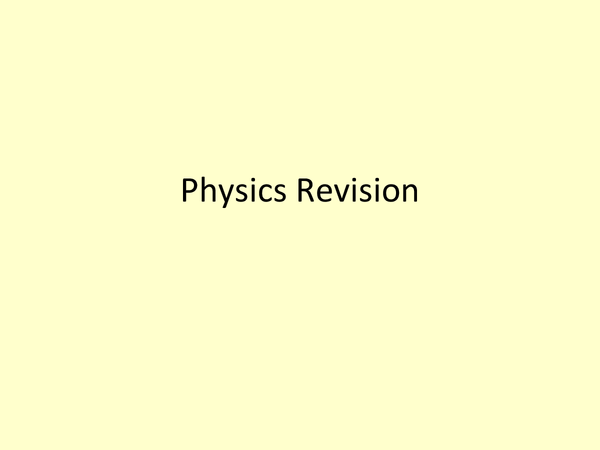 Preview of Electricity revision