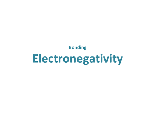 Preview of Electronegativity