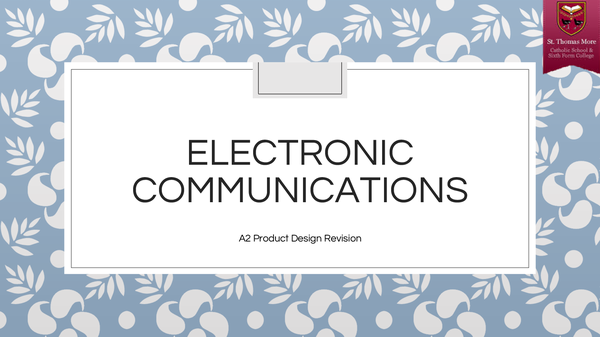 Preview of Electronic Communications