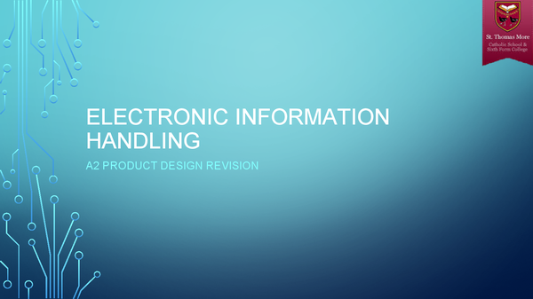 Preview of Electronic Information Handling