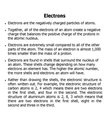 Preview of electrons