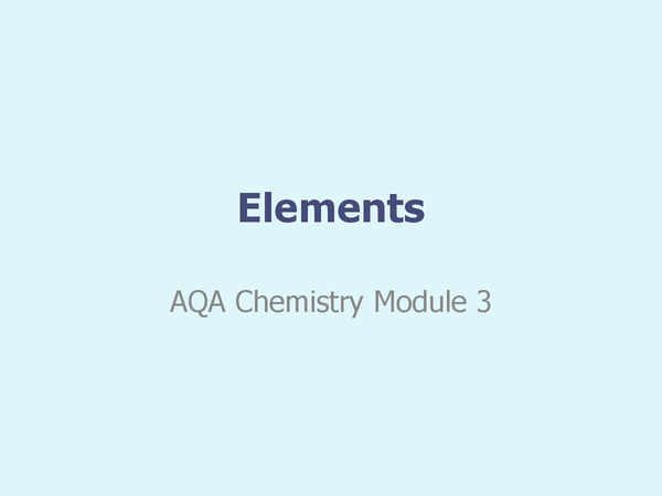 Preview of Elements