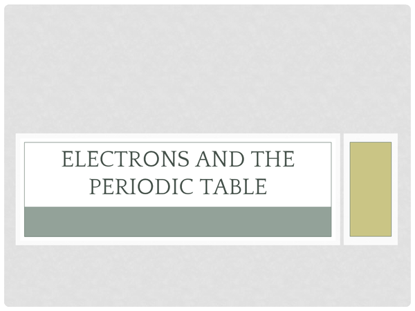 Preview of Elements and the Periodic Table - GCSE C4