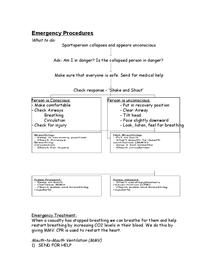 Preview of Emergency Proceedures