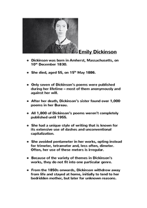 Preview of Emily Dickinson facts