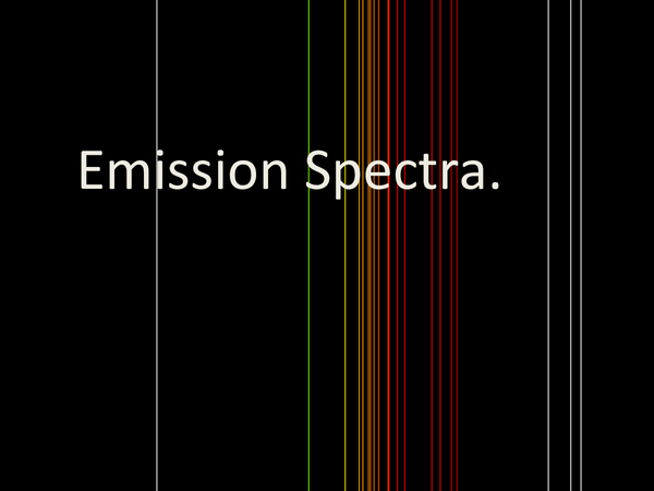 Preview of Emission Spectra