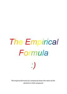 Preview of Emperical Formula- Made Easy