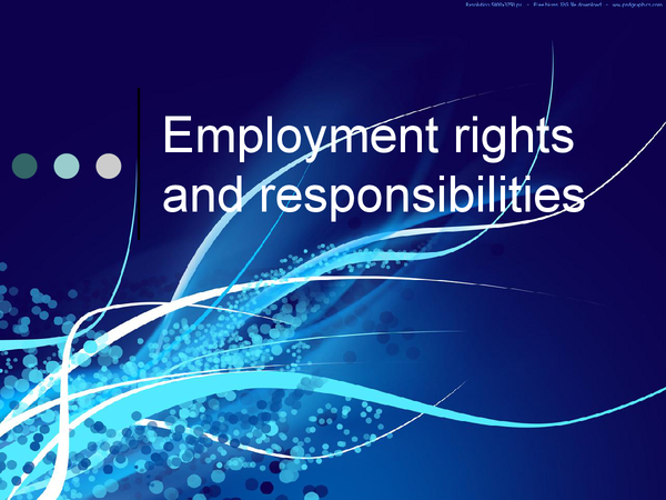 Preview of Employment rights and responsilities