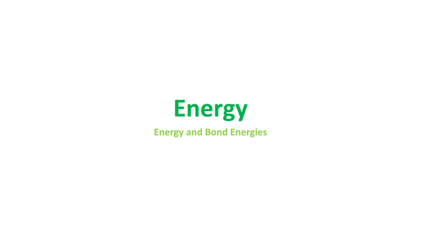 Preview of Energy