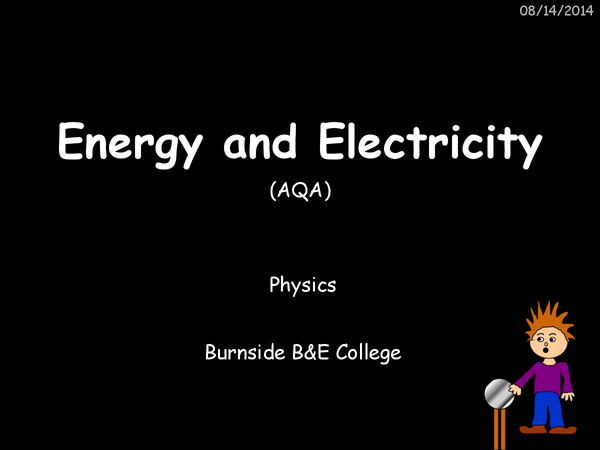 Preview of Energy and Electricity