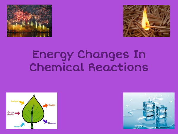 Preview of Energy changes powerpoint