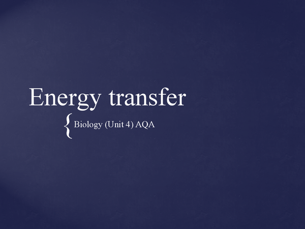 Preview of Energy Transfer