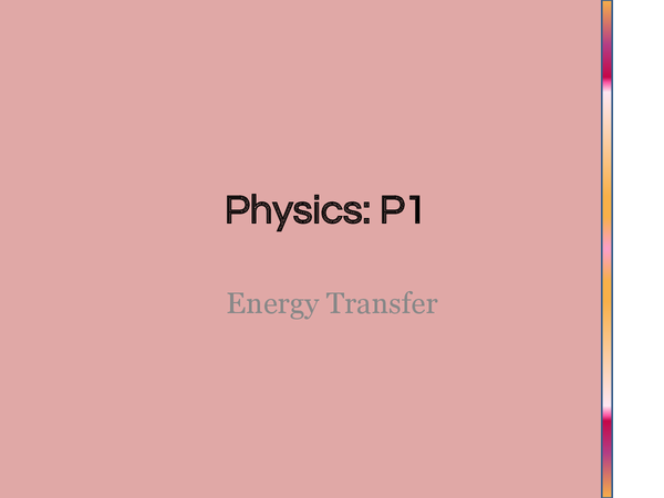 Preview of Energy Transfer Powerpoint (P1.1)