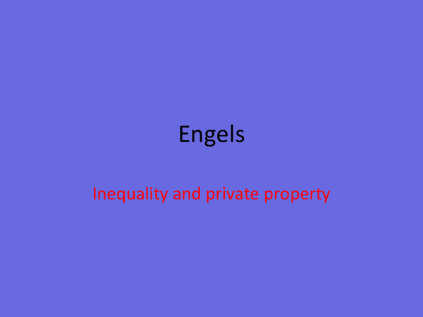 Preview of Engels