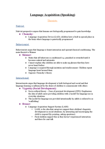 Preview of English Language A2 Language Acquisition and Change