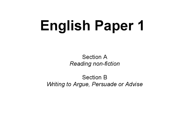 Preview of English Language Unit 1 Revision