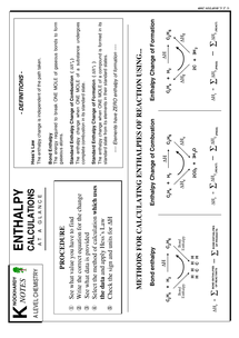 Preview of enthalpy summary