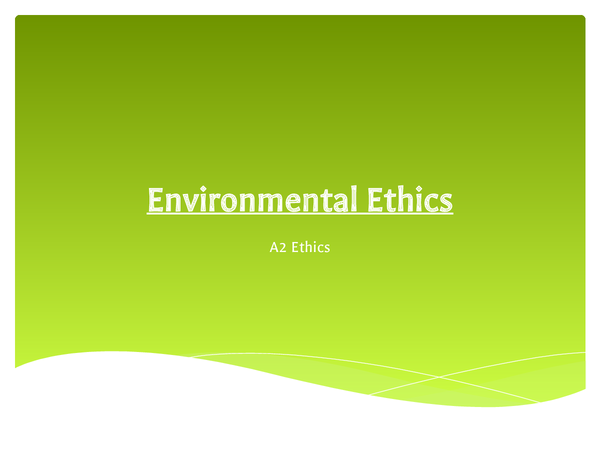 Preview of Environmental Ethics