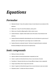 Preview of Equations
