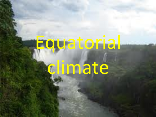 Preview of Equatorial climate
