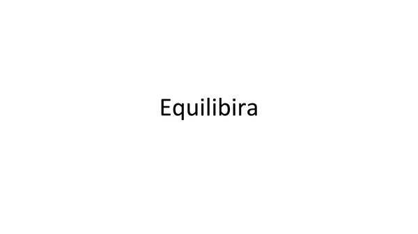 Preview of Equilibria