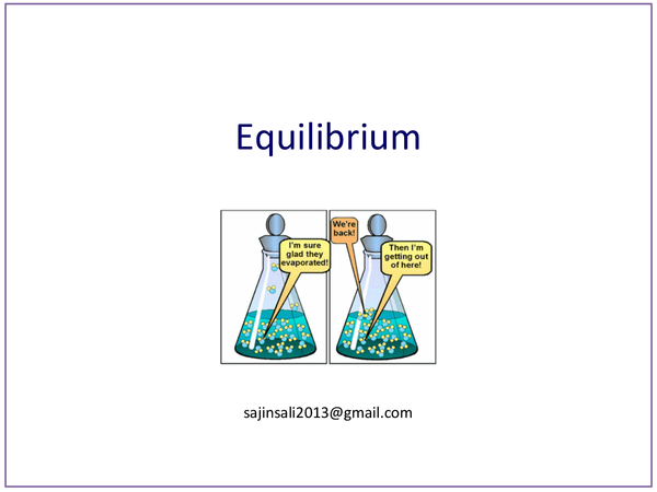 Preview of Equilibrium