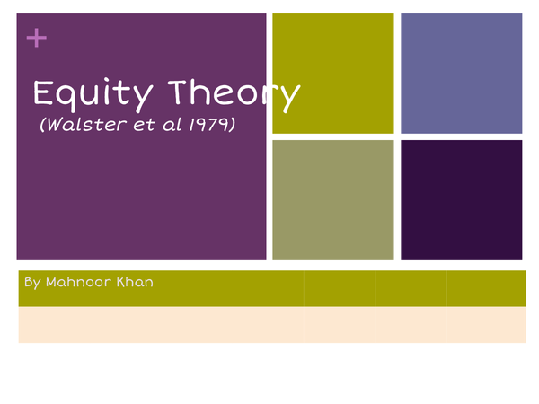 Preview of Equity Theory Powerpoint