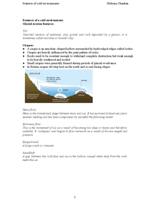 Preview of Erosion and Depositional features and landforms