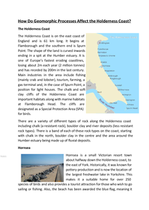 Preview of Essay on coastal erosion on the holderness coast