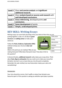 Preview of Essay Writing Help Sheet