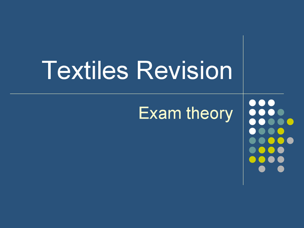 Preview of Essential GCSE Textiles Revision Powerpoint