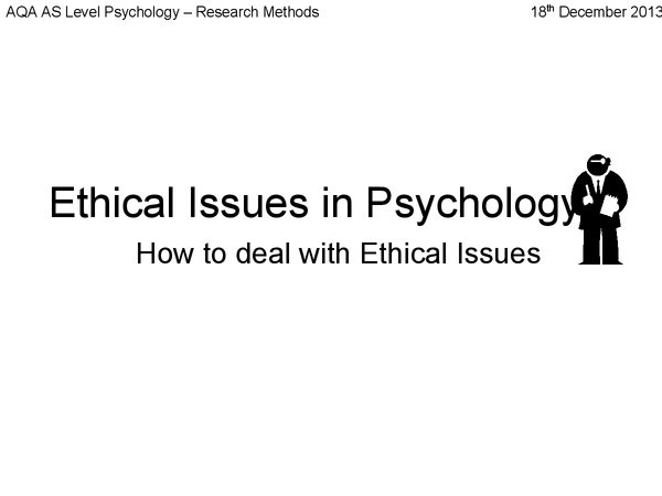 Preview of Ethical Issues in Psychology